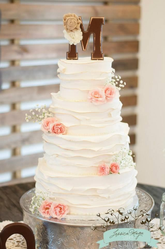 Ruffled Wedding Cakes  Best 25 Ruffled wedding cakes ideas on Pinterest