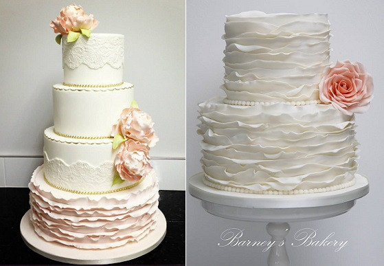 Ruffled Wedding Cakes  Fondant Frills & Ruffle Wedding Cakes – Cake Geek Magazine