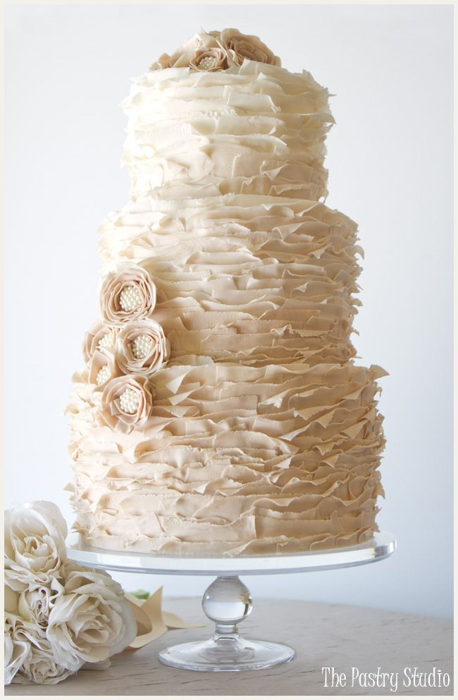Ruffled Wedding Cakes  Ruffled Wedding Cakes on Pinterest
