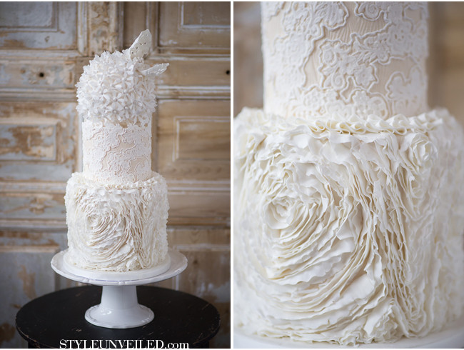 Ruffled Wedding Cakes  Ruffle Rose Cakes & Tutorials – Cake Geek Magazine