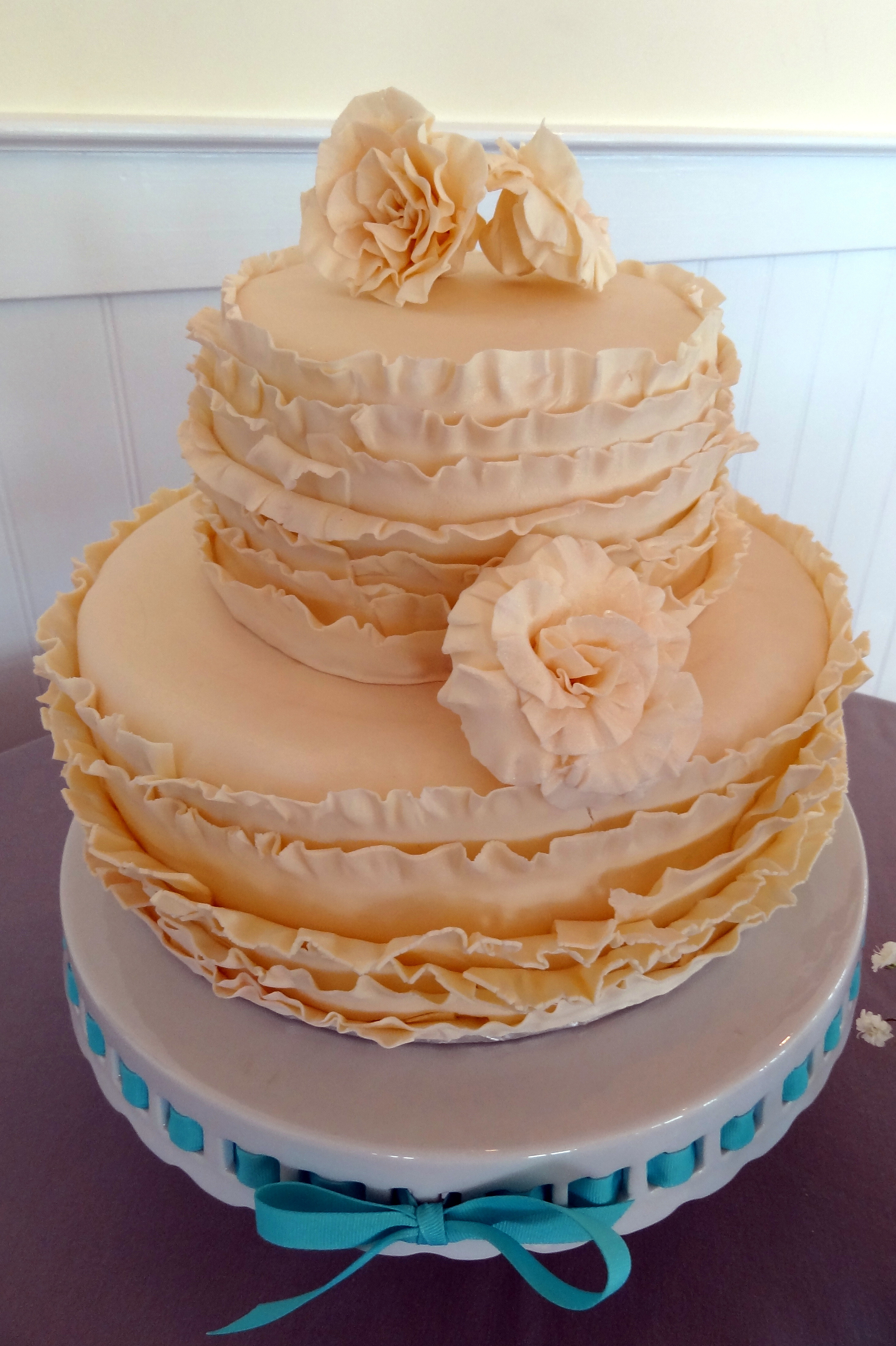Ruffled Wedding Cakes  Ruffle Wedding Cake