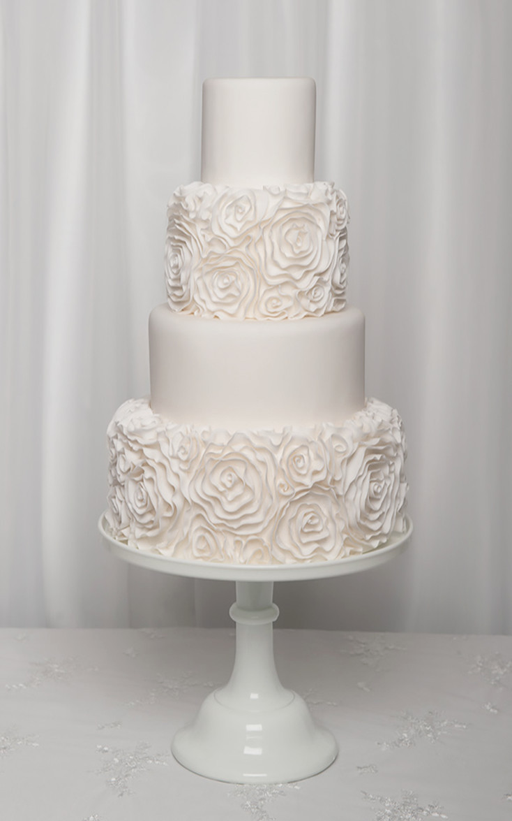 Ruffled Wedding Cakes  Ruffle wedding cake Liverpool wedding cakes North West