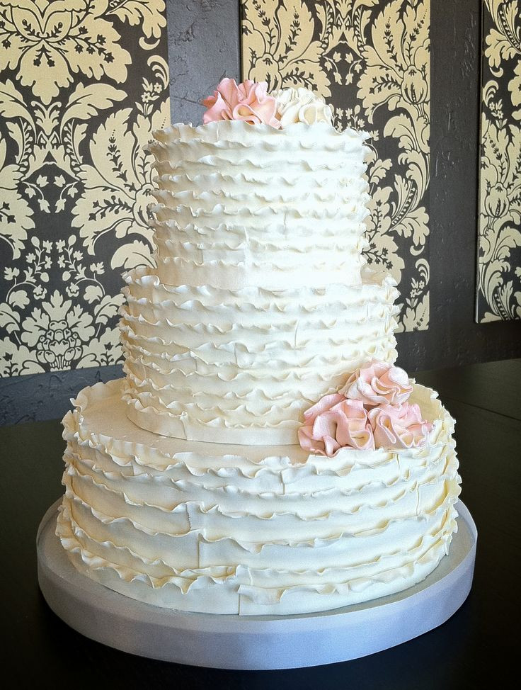 Ruffles Wedding Cakes  16 best ideas about Wedding Inspiration on Pinterest