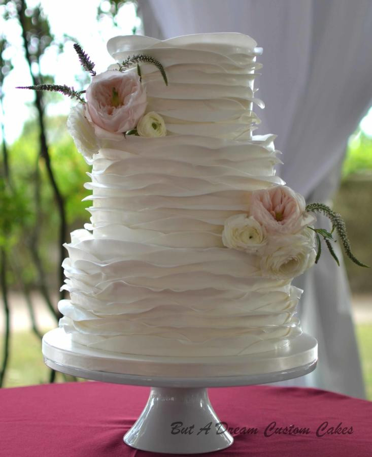 Ruffles Wedding Cakes  Ruffled wedding cake cake by Elisabeth Palatiello