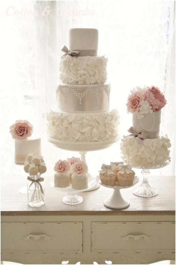 Ruffles Wedding Cakes  Trendsetting Ruffled Wedding Cakes You Must See Weddbook