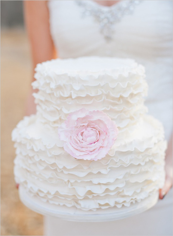 Ruffles Wedding Cakes  Wedding Trends Ruffled Cakes Belle The Magazine