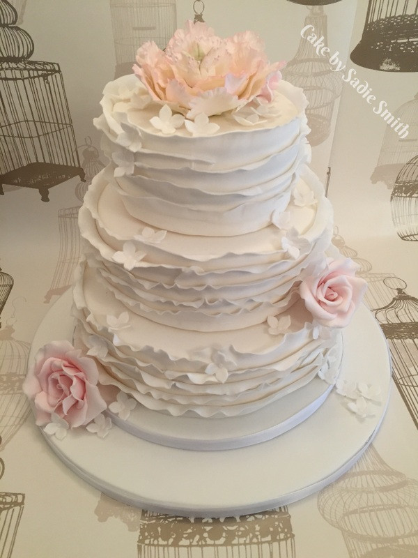 Ruffles Wedding Cakes  Ruffle Wedding Cake Cake by Sa Smith