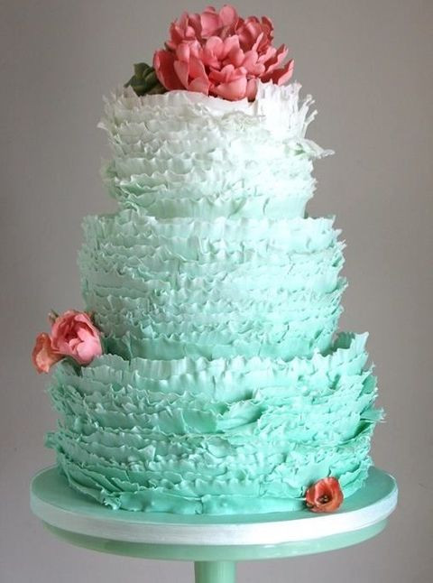 Ruffles Wedding Cakes  54 Cute Ruffle Wedding Cakes To Excite You