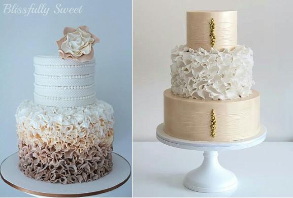 Ruffles Wedding Cakes  Ruffle Wedding Cakes – Petal Ruffles – Cake Geek Magazine