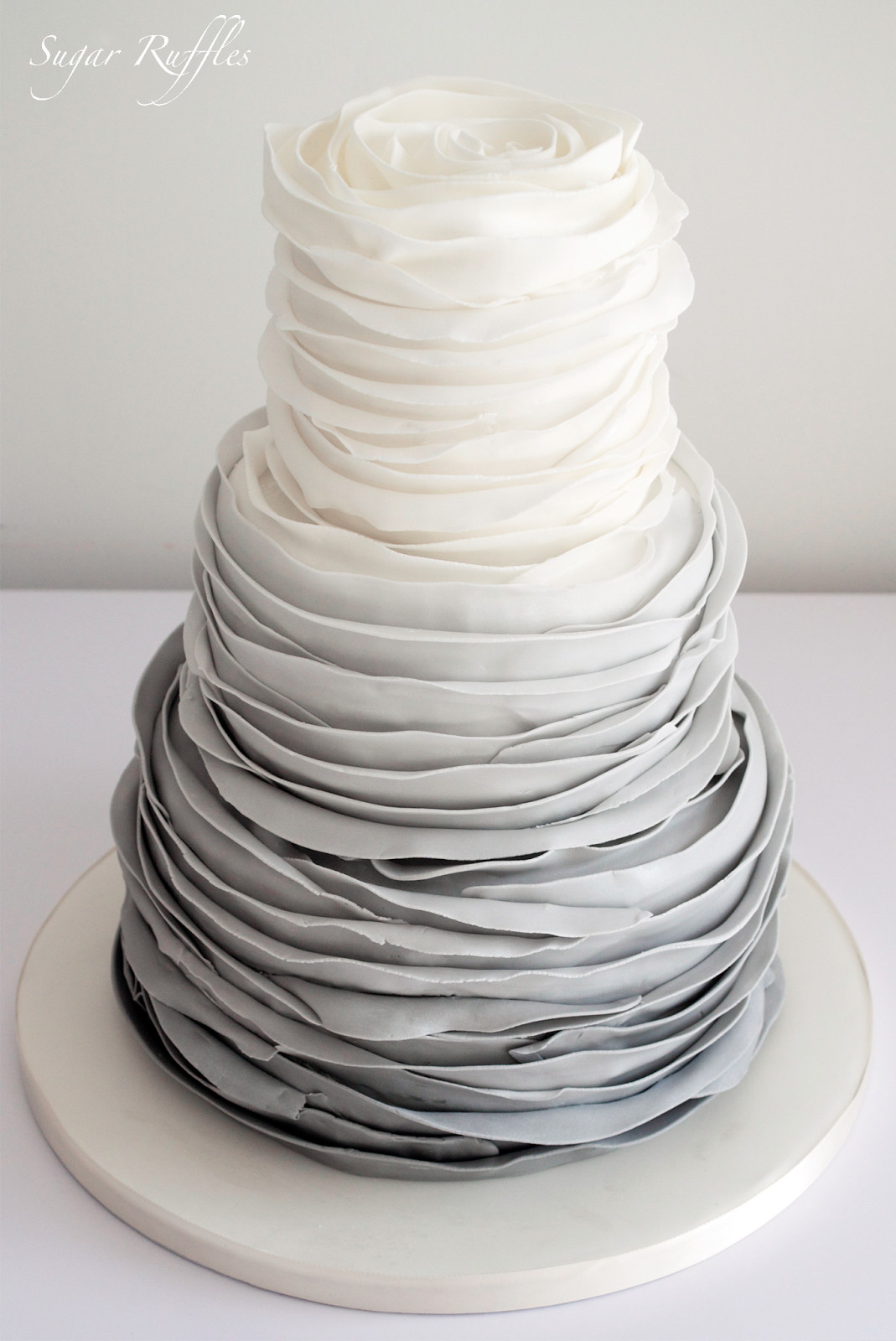 Ruffles Wedding Cakes  Sugar Ruffles Elegant Wedding Cakes Barrow in Furness