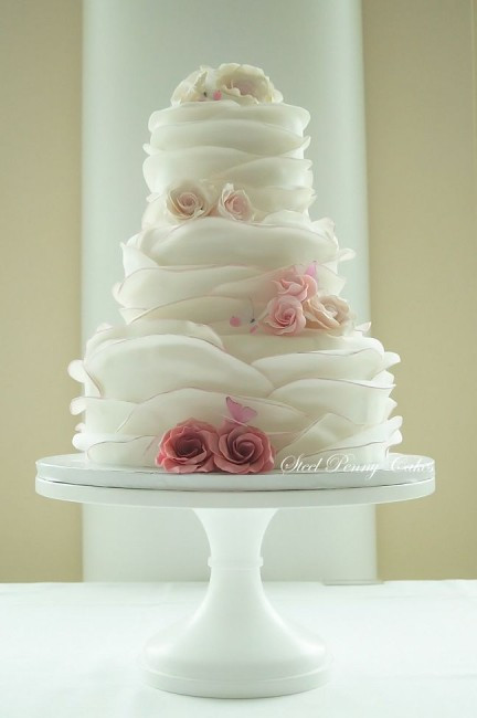Ruffles Wedding Cakes  Wedding Cake Wednesday Ruffle Cakes