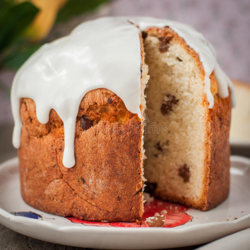 Russian Easter Bread  Rustic Style Kulich Russian Sweet Easter Bread Topped