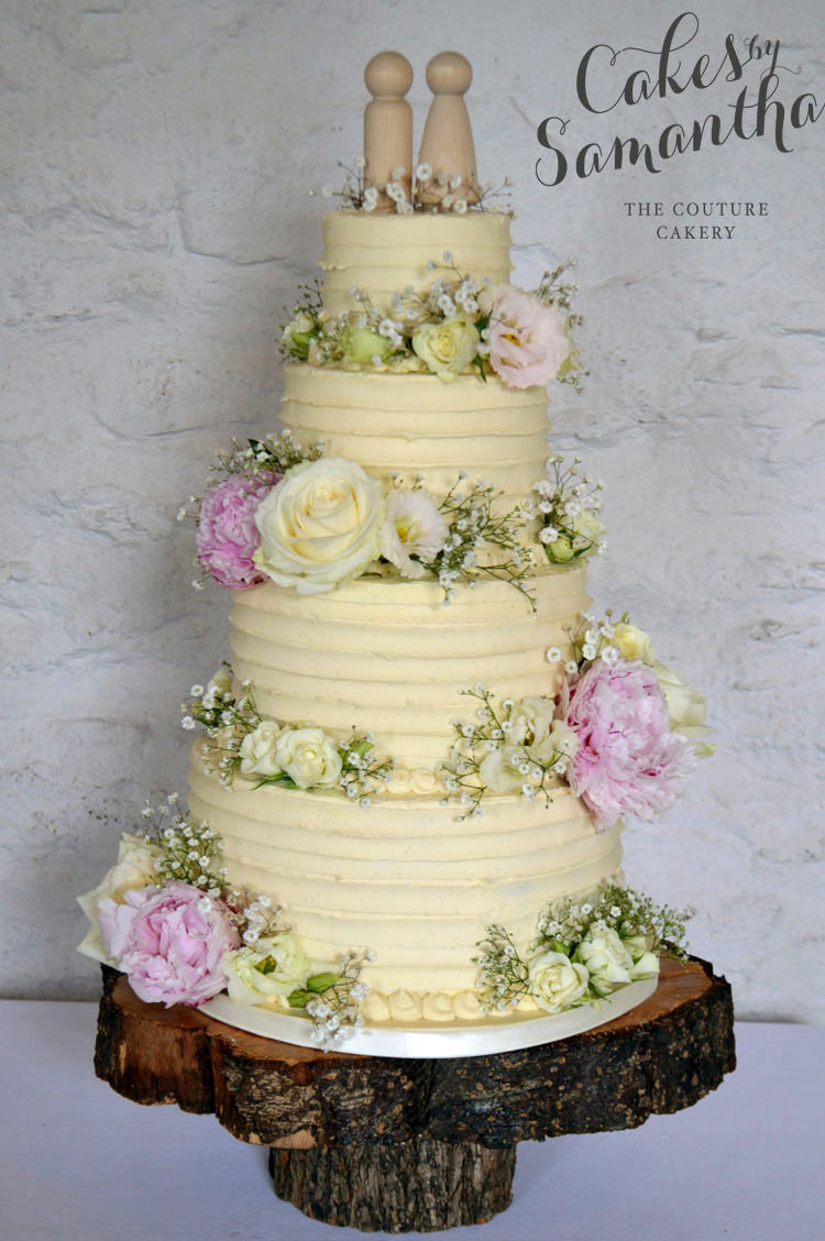Rustic Buttercream Wedding Cakes  Cakes by Samantha