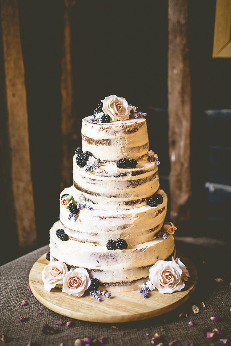 Rustic Buttercream Wedding Cakes  Rustic Bohemian DIY Barn Wedding