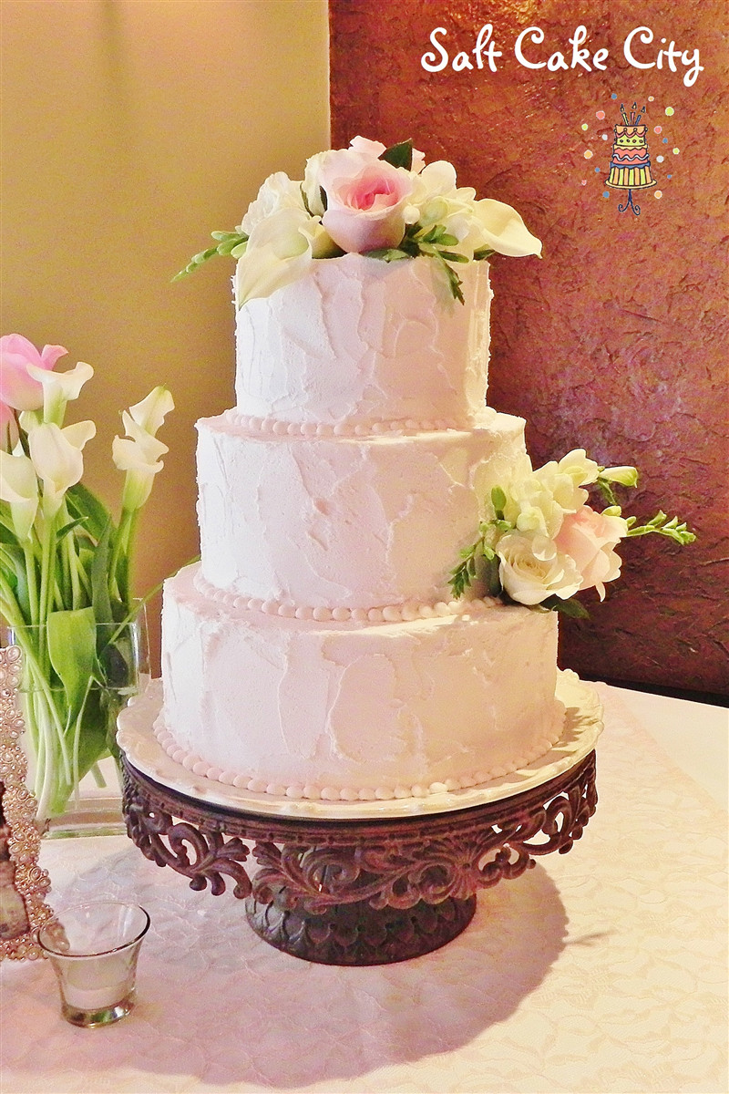 Rustic Buttercream Wedding Cakes  Weddingcakes by Salt Cake City Jennifer Hill in South