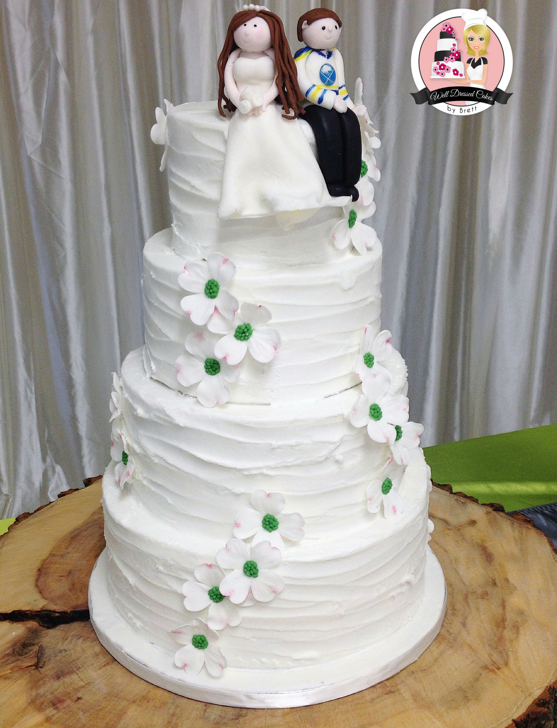 Rustic Buttercream Wedding Cakes  Well Dressed Cakes by Brett – Wedding Cakes