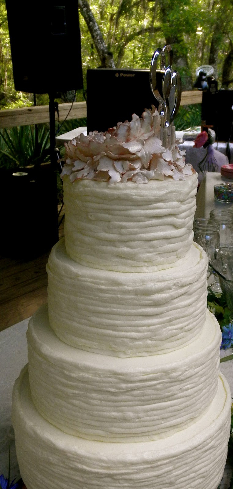Rustic Chic Wedding Cakes  Sweet T s Cake Design Shabby Chic Peony Rustic Wedding Cake