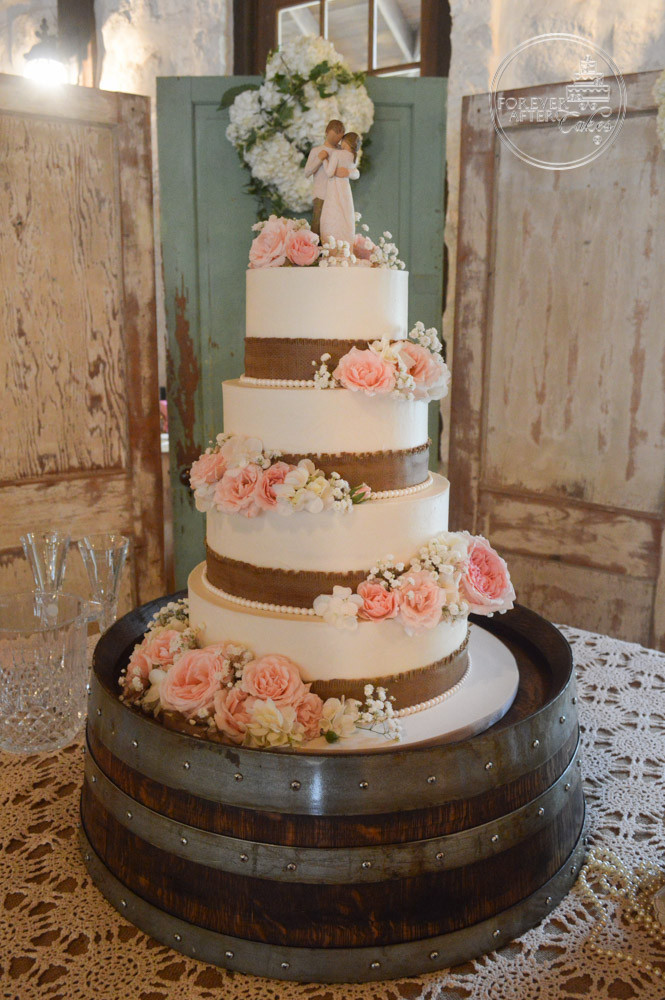 Rustic Chic Wedding Cakes  Forever After Cakes