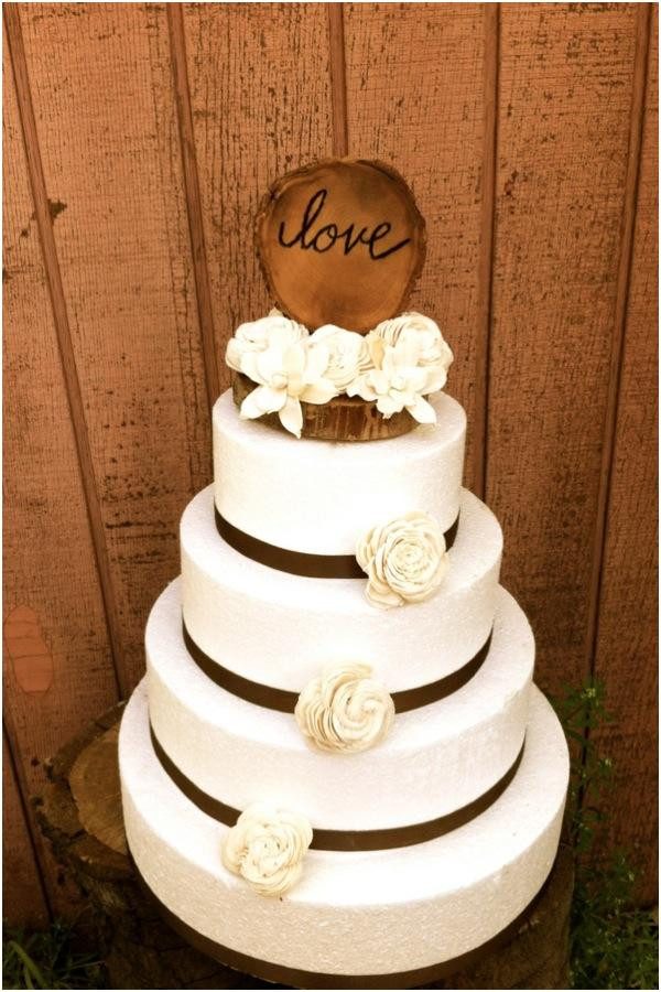 Rustic Chic Wedding Cakes  Cute And Chic Rustic Wedding Cake Toppers Weddbook