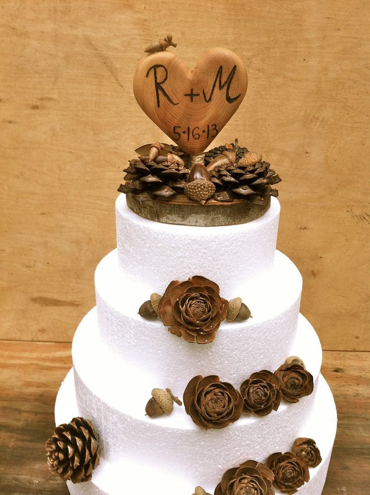 Rustic Country Wedding Cakes  Wedding Ideas Rustic Winter Wedding