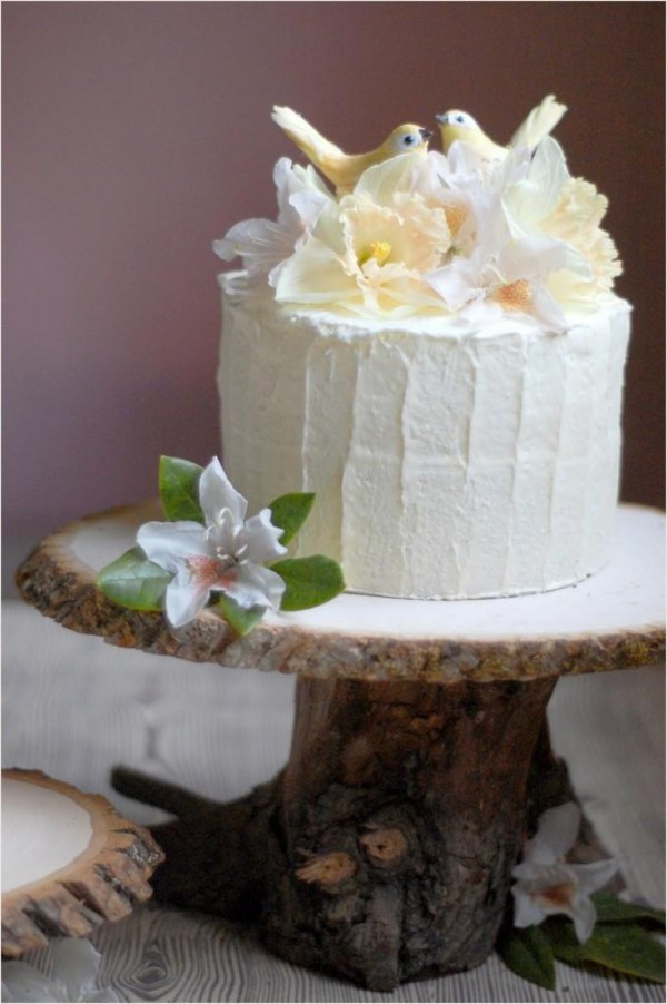 Rustic Style Wedding Cakes  DIY Rustic Wedding Cake Stand ce Wed