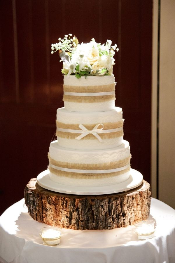 Rustic Style Wedding Cakes  10 Best ideas about Hessian Wedding on Pinterest