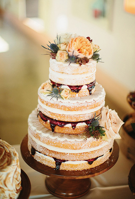 Rustic Style Wedding Cakes  Rustic Naked Wedding Cake