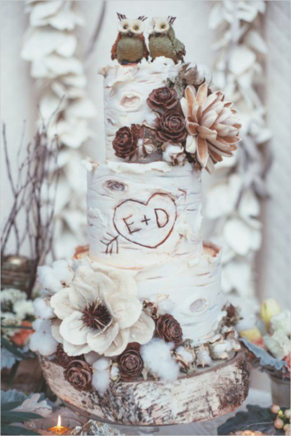 Rustic Themed Wedding Cakes  18 Drop Dead Gorgeous Winter Wedding Ideas For 2015