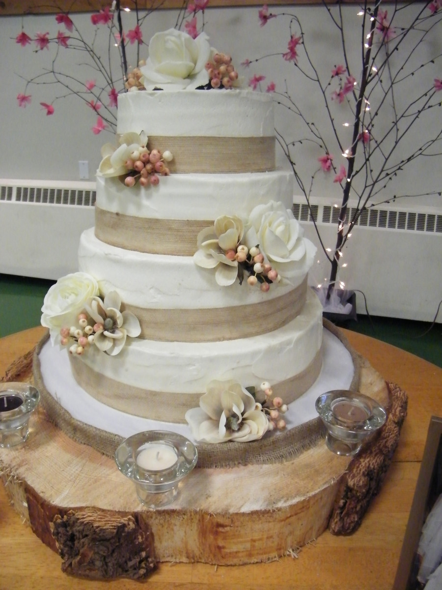 """Rustic Themed Wedding Cakes  """"rustic"""" Themed Wedding Cake CakeCentral"""