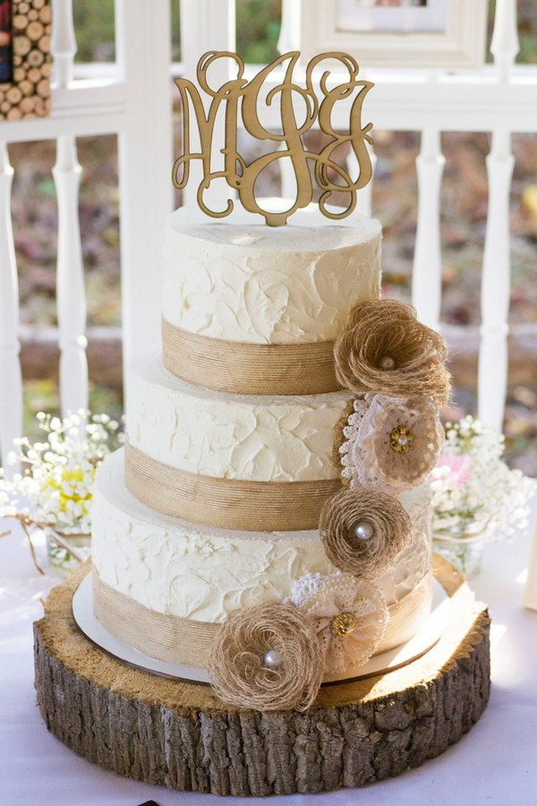 Rustic Wedding Cakes Ideas  15 Rustic Lace and Burlap Wedding Ideas to Love
