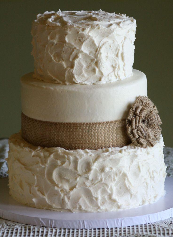 Rustic Wedding Cakes With Burlap  Rustic Wedding Cake Ideas