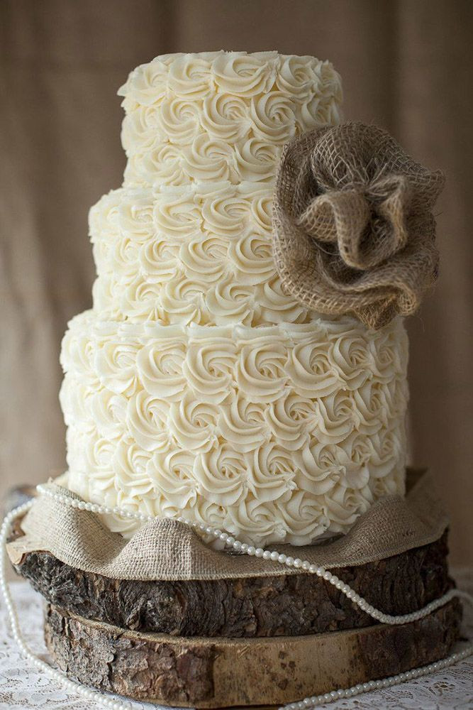 Rustic Wedding Cakes With Burlap  30 Rustic Wedding Cakes For The Perfect Country Reception