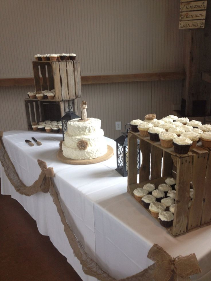 Rustic Wedding Cakes With Cupcakes  18 Stunning DIY Rustic Wedding Decorations