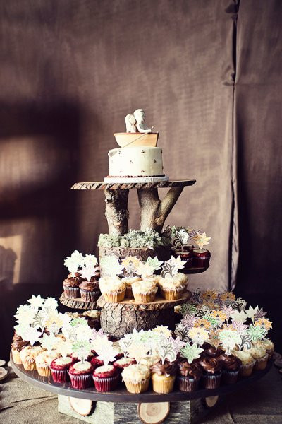 Rustic Wedding Cakes With Cupcakes  Rustic Shabby Chic Cupcakes Wedding Cakes s