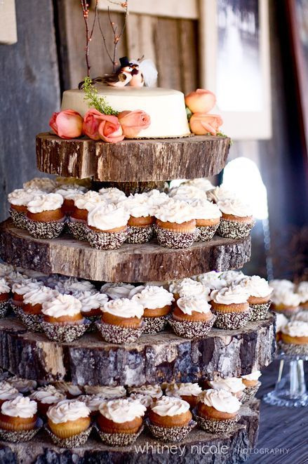 Rustic Wedding Cakes With Cupcakes  Rustic Theme