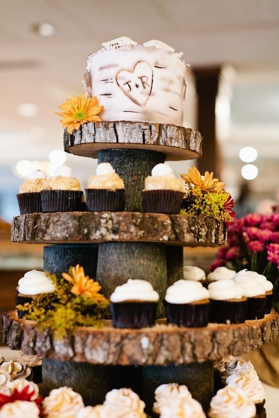 Rustic Wedding Cakes With Cupcakes  The Sweetest Rustic Themed Wedding Cupcakes