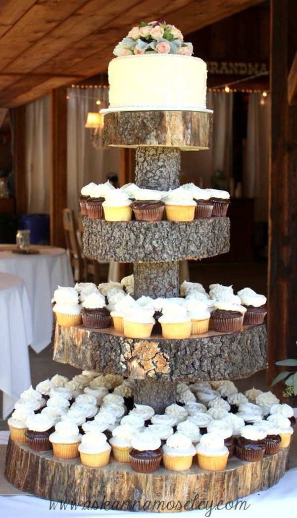 Rustic Wedding Cakes With Cupcakes  Top 30 Country Wedding Ideas And Wedding Invitations For