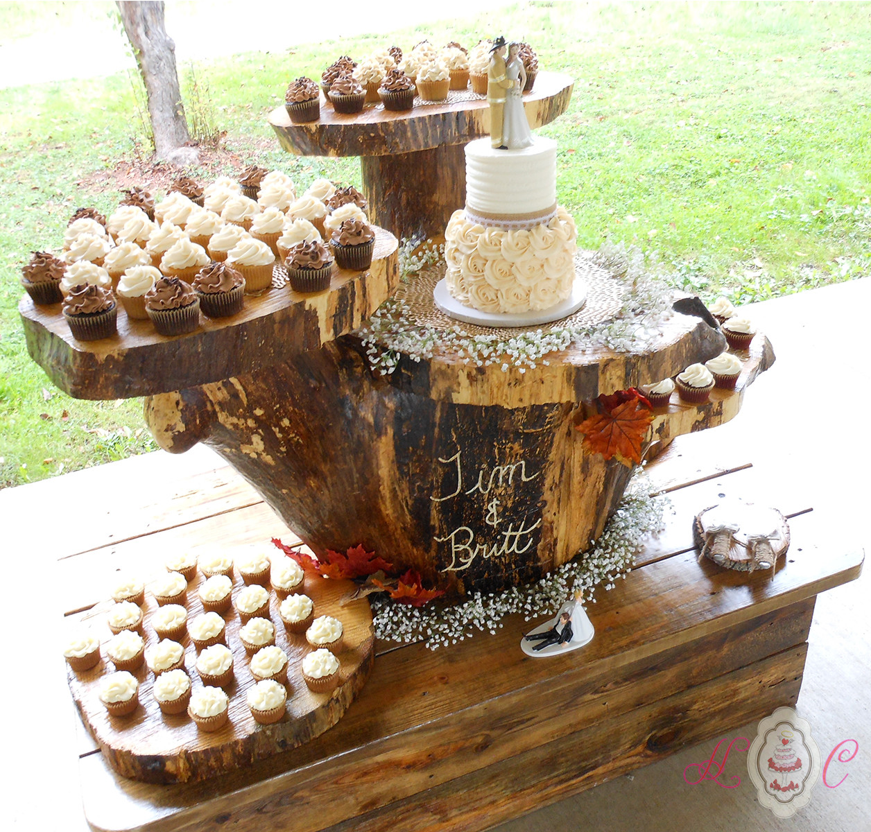 Rustic Wedding Cakes With Cupcakes  Wedding Cakes in Marietta Parkersburg & More Heavenly