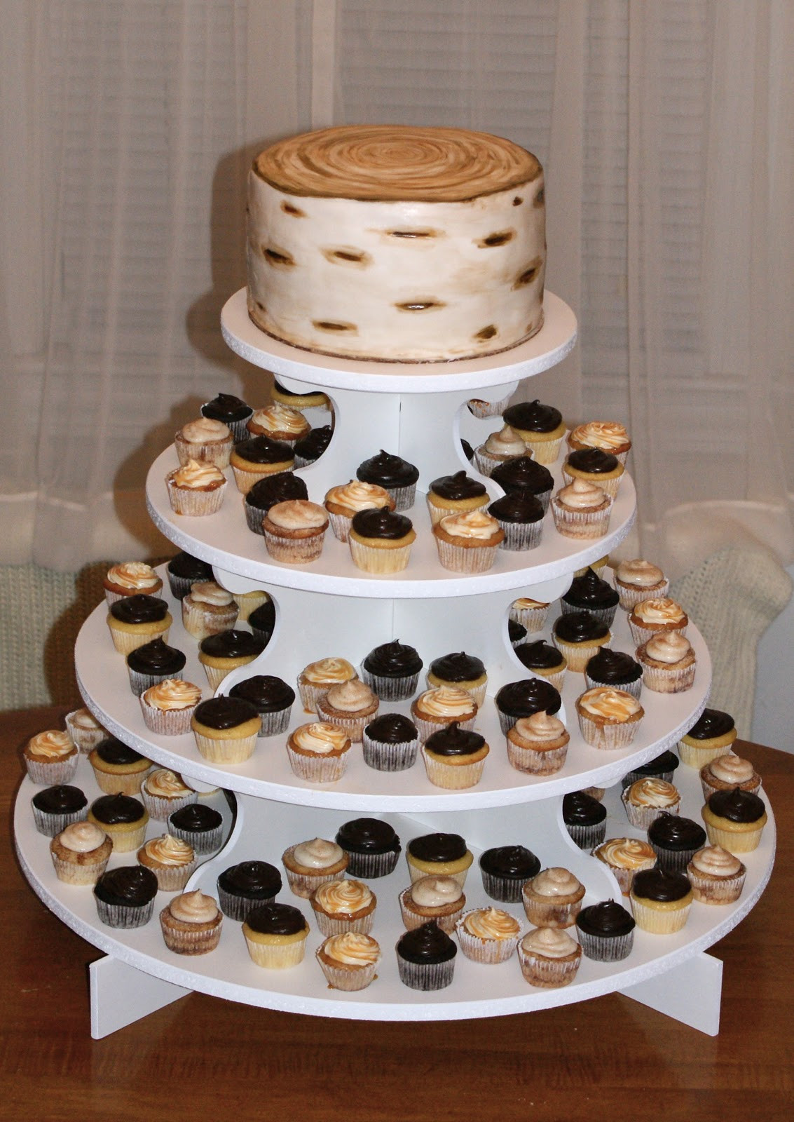 Rustic Wedding Cakes With Cupcakes  Cakes by Meg Rustic Wedding Cake & Cupcakes