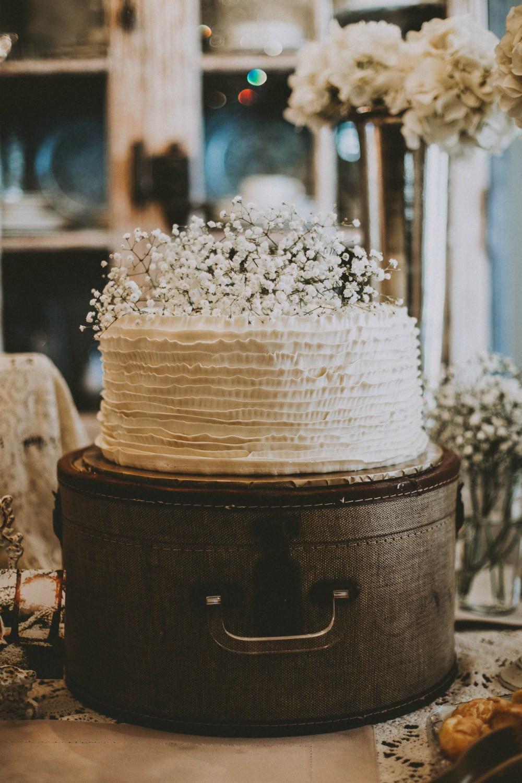 Rustic Wedding Shower Cakes  vintage bridal shower