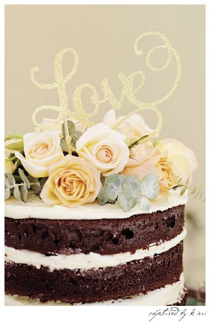 Rustic Wedding Shower Cakes  Kara s Party Ideas Rustic Outdoor Bridal Shower