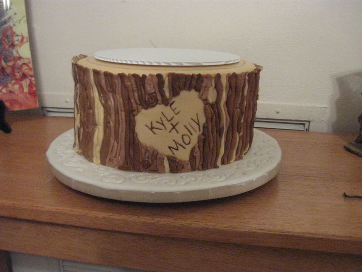 Rustic Wedding Shower Cakes  8 best images about Wedding shower cake on Pinterest