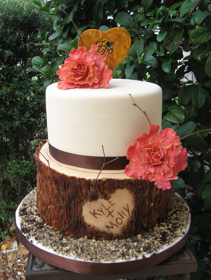 Rustic Wedding Shower Cakes  Best 25 Bridal shower cakes rustic ideas on Pinterest