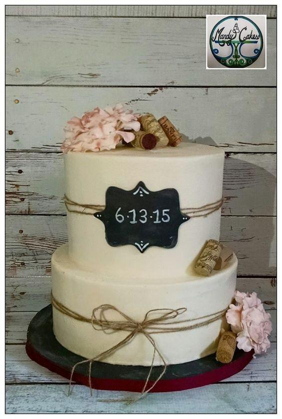 Rustic Wedding Shower Cakes  Bridal shower wine Wine cakes and Rustic bridal showers