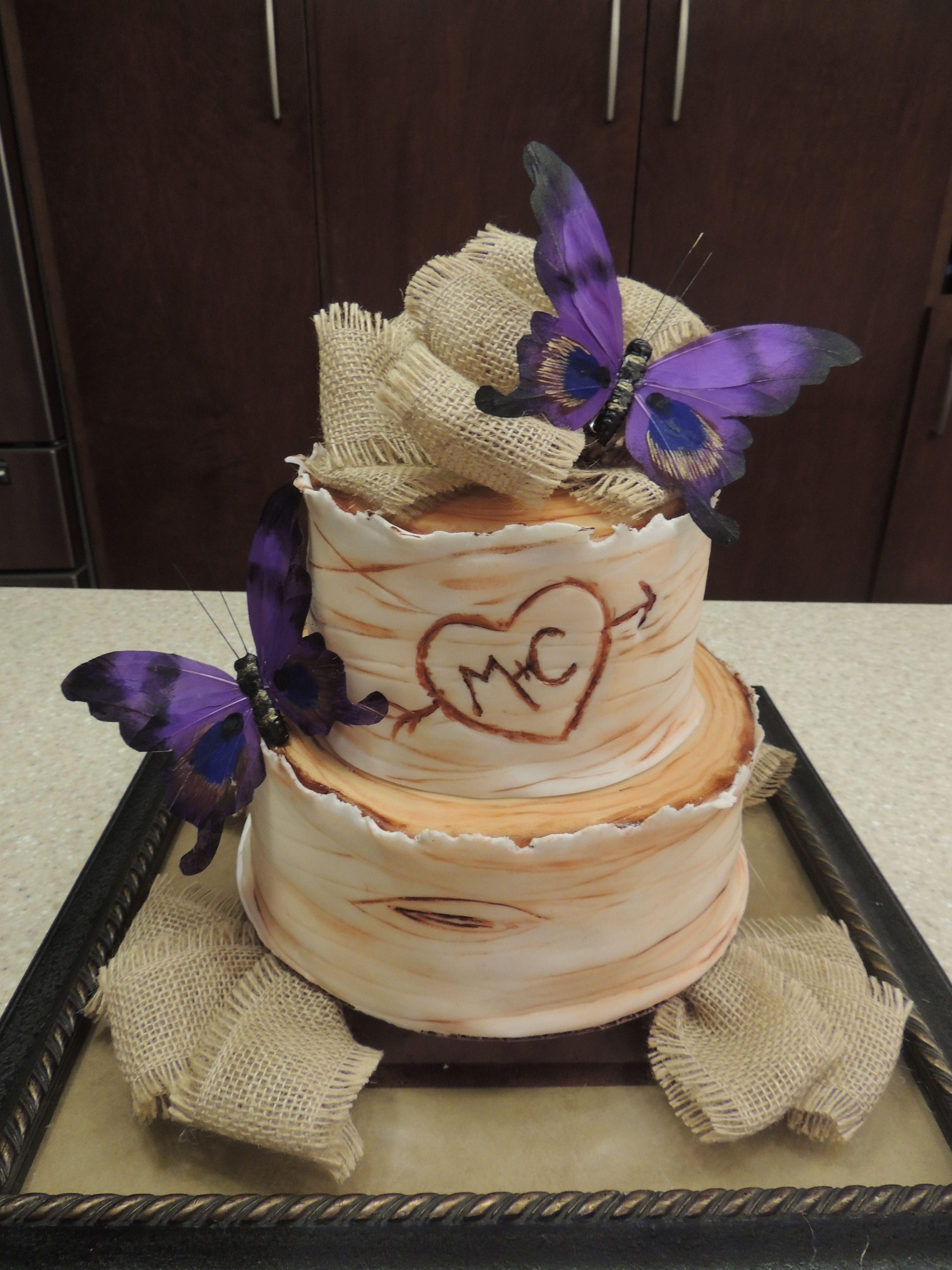 Rustic Wedding Shower Cakes  Rustic Bridal Shower Cake Wedding Inspirations