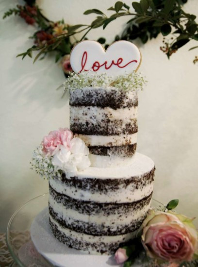 Rustic Wedding Shower Cakes  Hearts and Cookies Rustic Bridal Shower Bridal Shower