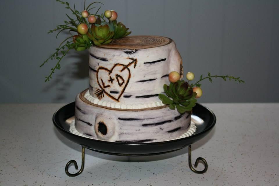 Rustic Wedding Shower Cakes  Rustic wood wedding shower cake Cakes I ve made