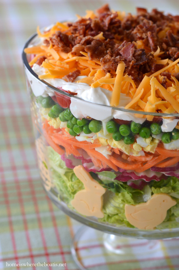 Salads For Easter Ham Dinner  Layered Spring Salad for Easter – Home is Where the Boat Is