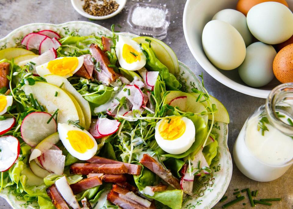 Salads For Easter Ham Dinner  Recipe for ham and egg salad with creamy dressing The