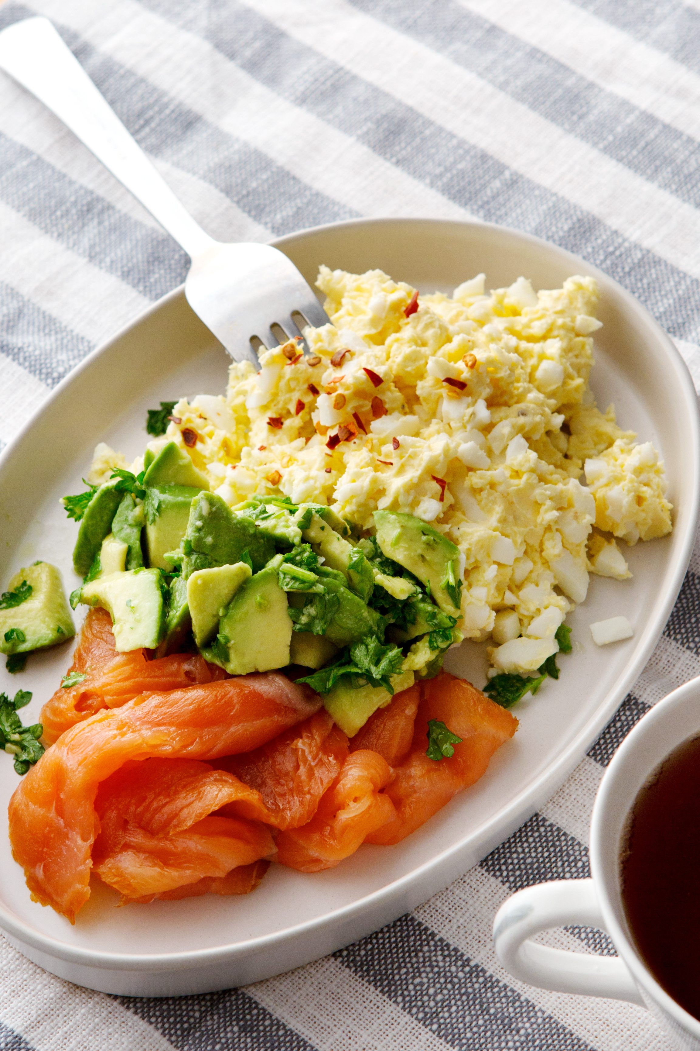 Salmon For Breakfast Healthy  Keto egg butter with smoked salmon and avocado Diet Doctor